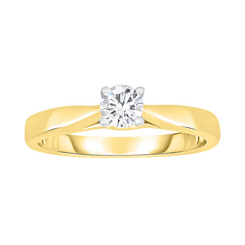 True Love, Celebrate Romance® 1/3 CT. Diamond Solitaire 14K Yellow Gold Ring