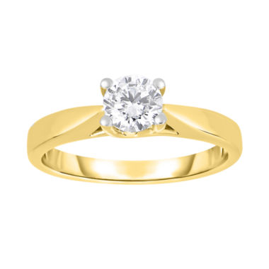 jcpenney.com | True Love, Celebrate Romance® 3/4 CT. Diamond Solitaire 14K Yellow Gold Ring