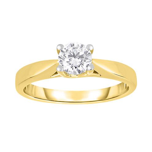 True Love, Celebrate Romance® 3/4 CT. Diamond Solitaire 14K Yellow Gold Ring
