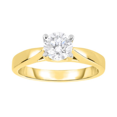 jcpenney.com | True Love, Celebrate Romance® 1 CT Diamond Solitaire 14K Yellow Gold Bridal Ring