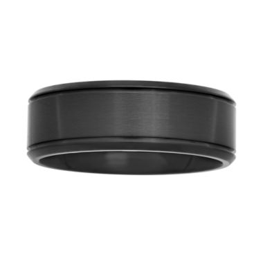 jcpenney.com |  Mens Black Stainless Steel 8mm Wedding Band