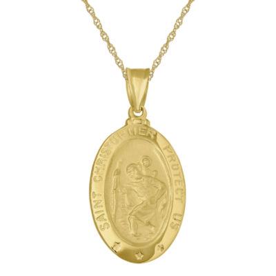 Infinite gold 14k st christopher pendant infinite gold 14k yellow gold st christopher pendant necklace aloadofball Gallery