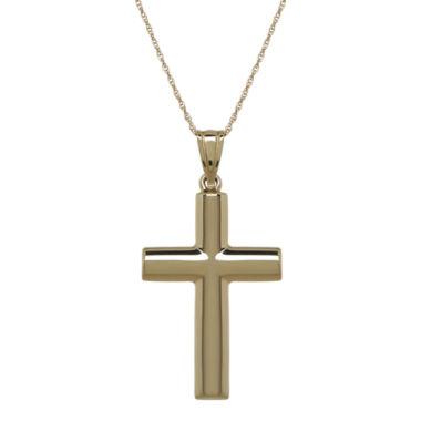 jcpenney.com | Infinite Gold™ 14K Yellow Gold Cross Pendant Necklace