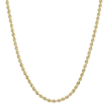 "jcpenney.com | Infinite Gold™ 14K Yellow Gold 16"" or 18"" Glitter Solid Rope Chain"