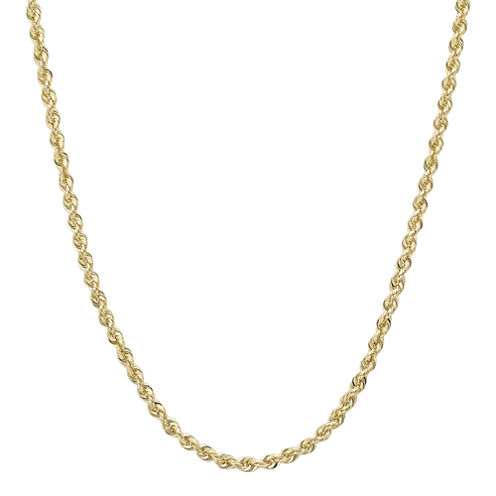 """Infinite Gold™ 14K Yellow Gold 16"""" or 18"""" Glitter Solid Rope Chain"""