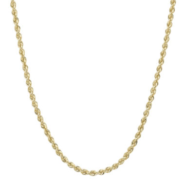 "jcpenney.com | Infinite Gold™ 14K Yellow Gold 20"" Glitter Solid Rope Chain"