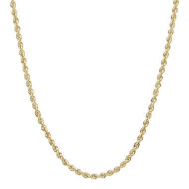 "jcpenney.com | Infinite Gold™ 14K Yellow Gold 24"" Glitter Solid Rope Chain"