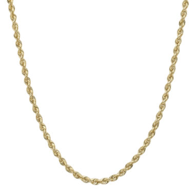 "jcpenney.com | Infinite Gold™ 14K Yellow Gold 16"" or 36"" Hollow Glitter Rope Chain"