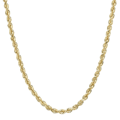 """Infinite Gold™ 14K Yellow Gold 20"""" Glitter Solid Rope Chain"""