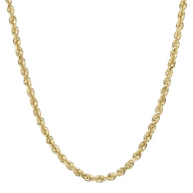 "jcpenney.com | Infinite Gold™ 14K Yellow Gold 20"" Glitter Hollow Rope Chain"