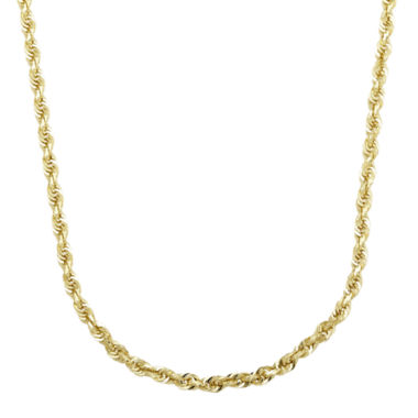 "jcpenney.com | Infinite Gold™ 14K Yellow Gold 24"" Glitter Hollow Rope Chain"