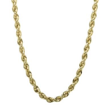 "jcpenney.com | Infinite Gold™ 14K Yellow Gold 24"" or 30"" Glitter Hollow Rope Chain"