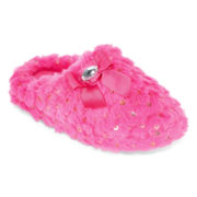Laura Ashley Plush Sequin Slippers - Girls