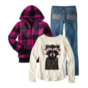 Arizona Graphic Tee, Plush Hoodie or Bootcut Jeans - Girls