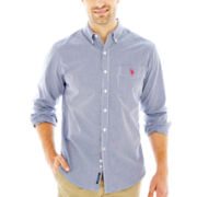 U.S. Polo Assn.® Long-Sleeve Gingham Woven Shirt