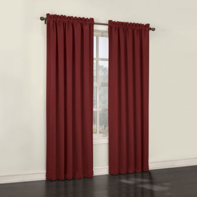 Sun Zero™ Emory Room-Darkening Rod-Pocket Curtain Panel Pair