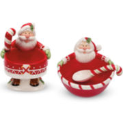 Fitz and Floyd® Candy Cane 4-pc. Santa Bowl Set
