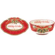 Fitz and Floyd® Damask Holiday 2-pc. Sentiment Set