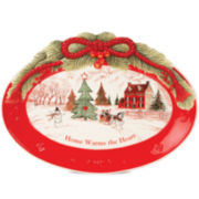 Fitz and Floyd® Home Warms the Heart Cookie Platter