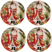 Fitz and Floyd® Regal Holiday Set of 4 Accent Plates