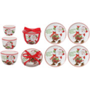 Fitz and Floyd® Candy Cane 7-pc. Snack Plate and Bowl Set