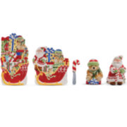 Fitz and Floyd® Candy Cane Santa 5-pc. Snack Set