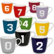 Konitz Numbers Set of 10 Mugs