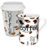Konitz Coffee Collage 2-pc. Stay/Go Mug Set