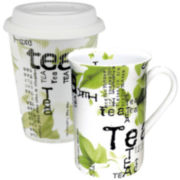 Konitz Tea Collage 2-pc. Stay/Go Mug Set