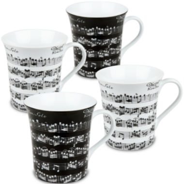 jcpenney.com | Konitz Vivaldi Libretto Set of 4 Mugs