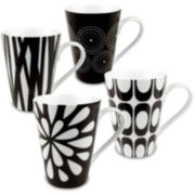 Konitz Assorted Musical Set of 4 Mugs