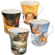 Konitz Assorted Angel Set of 4 Mugs