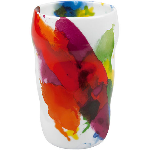 """Konitz """"On Color!"""" Set of 2 Double-Walled Grip Mugs"""
