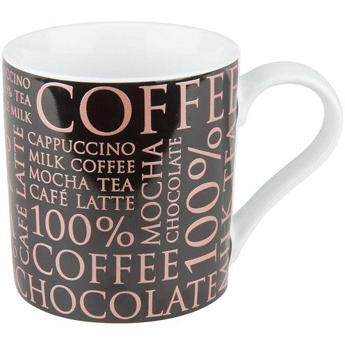 Konitz 100% Coffee Set of 4 Mugs - Black