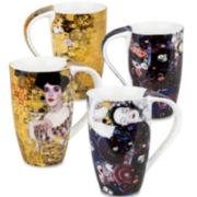 Konitz Gustav Klimt Set of 4 Mugs