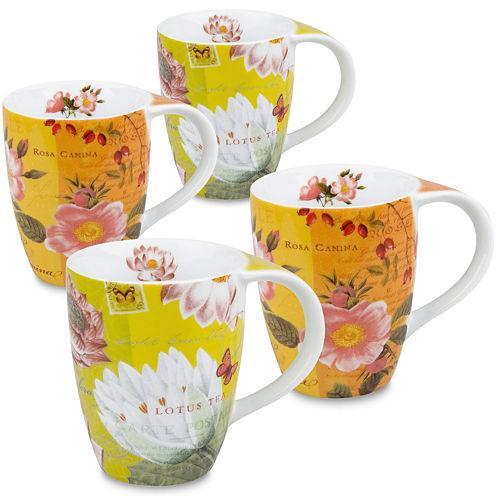 Konitz Tea Flowers Set of 4 Mugs