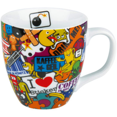 jcpenney.com | Konitz Sticker Bombing Set of 4 Mugs