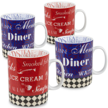 jcpenney.com | Konitz American Diner Set of 4 Mugs