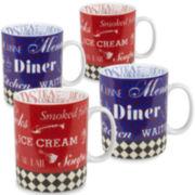 Konitz American Diner Set of 4 Mugs