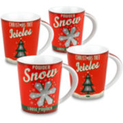Konitz Vintage Christmas Set of 4 Mugs