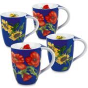 Konitz Flowers Set of 4 Mugs