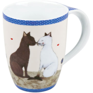 jcpenney.com | Konitz Cat Couple Set of 4 Mugs