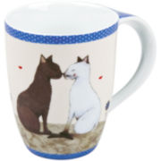 Konitz Cat Couple Set of 4 Mugs