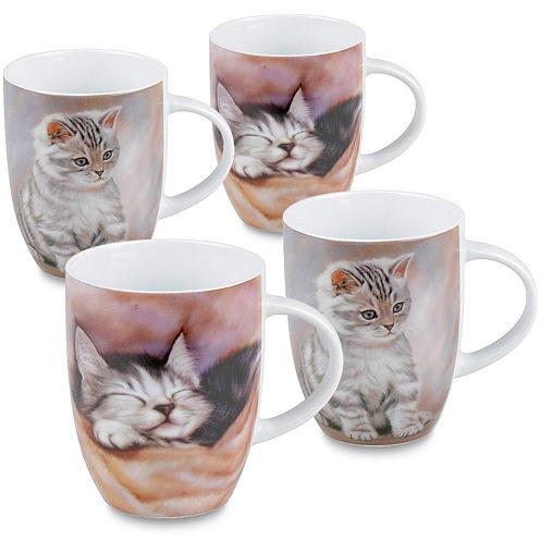 Konitz Kittens Set of 4 Mugs