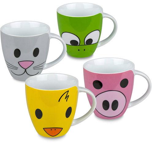 Konitz Zoo Set of 4 Mugs