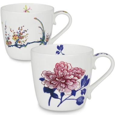 jcpenney.com | Konitz Peony and Bird Set of 2 Mugs