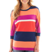 jcp™ 3/4-Sleeve Dolman Knit Top