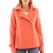 jcp™ Wool-Blend Pea Coat