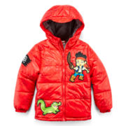 Disney Collection Jake and the Neverland Pirates Hooded Puffer Jacket – Boys 2-10
