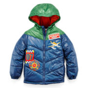 Disney Collection Planes Hooded Puffer Jacket – Boys 2-10